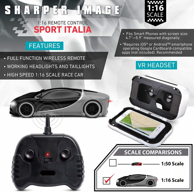 Italia Remote Control Virtual Reality Sharper Image Sports Car kid