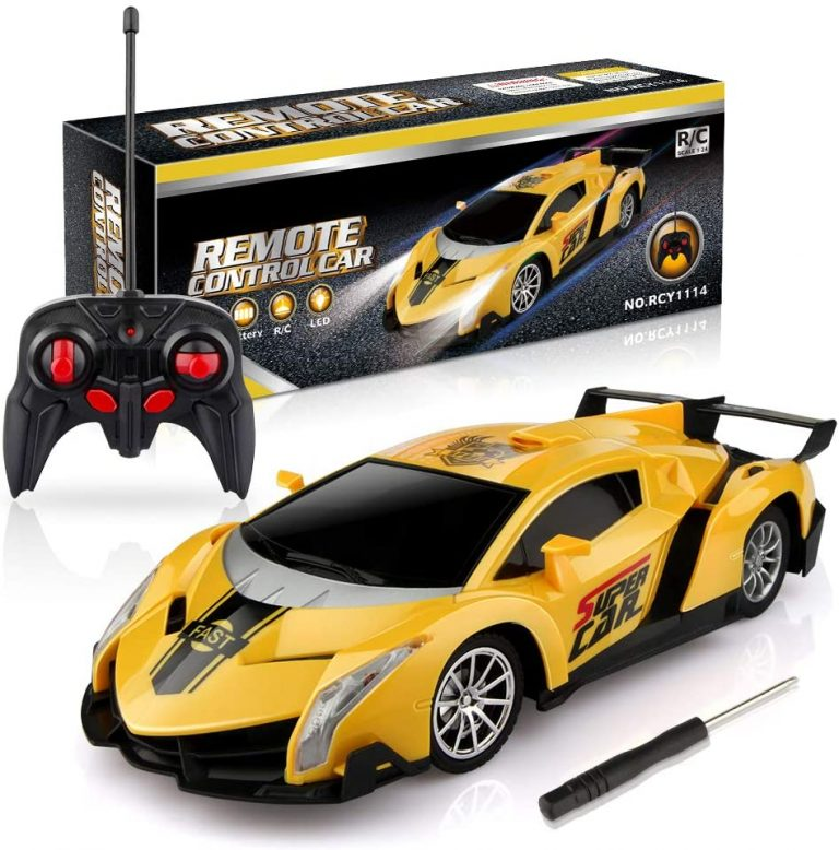 Lamborghini remote control car yellow - fully functional with Controller and Lights by Growsland